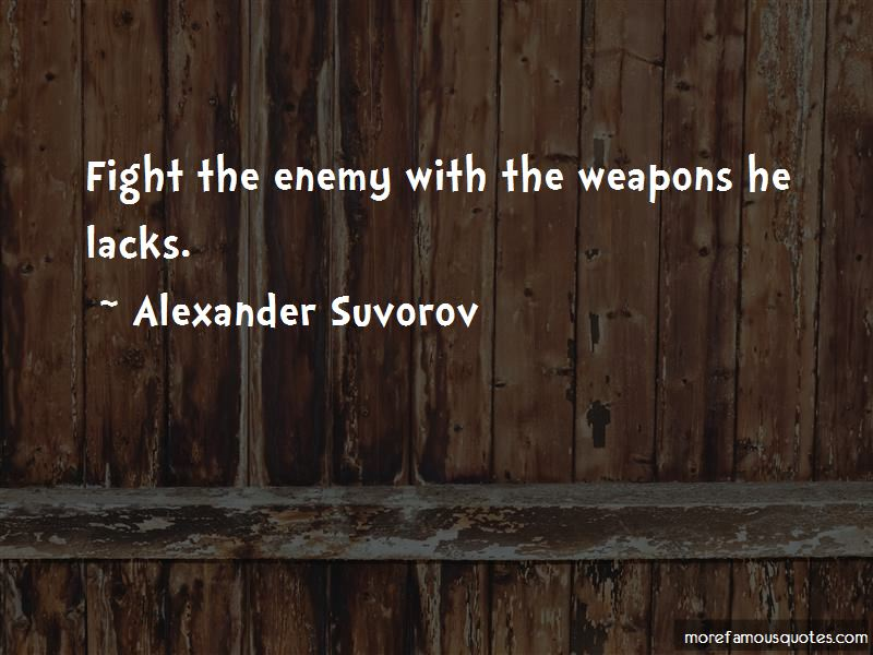 Alexander Suvorov Quotes Pictures 3