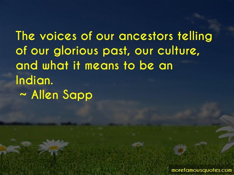 Allen Sapp Quotes