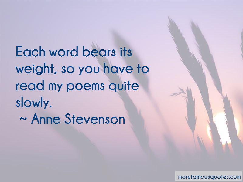 Anne Stevenson Quotes Pictures 2