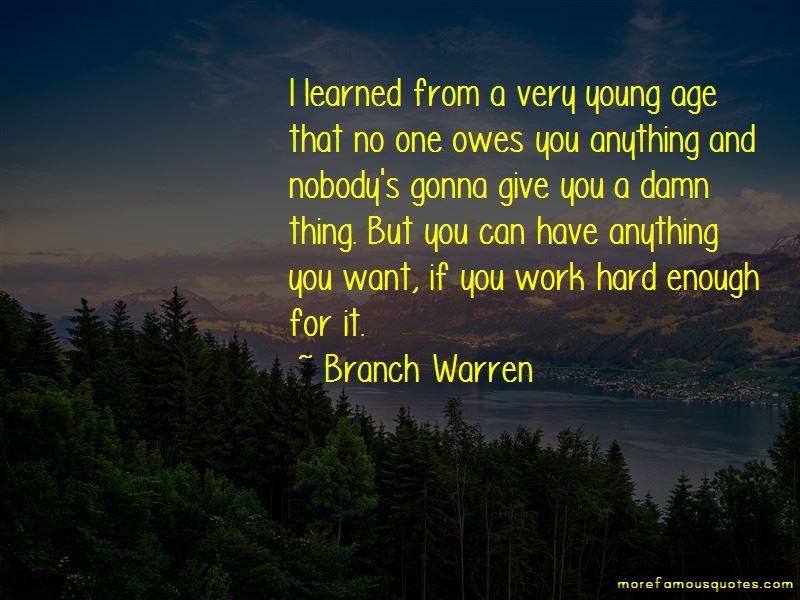 Branch Warren Quotes
