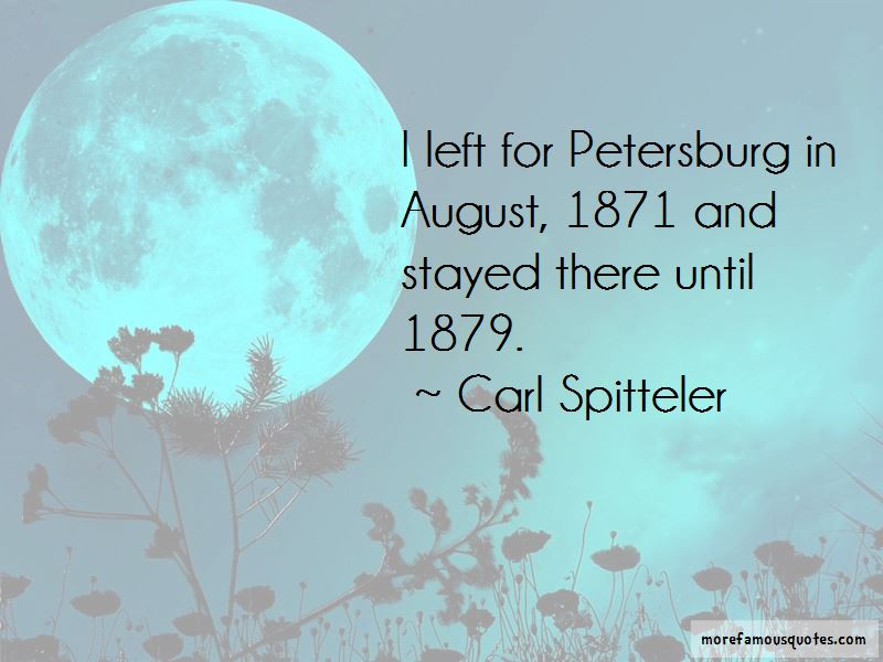 Carl Spitteler Quotes Pictures 2