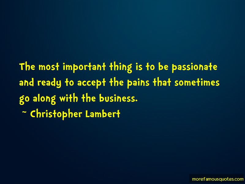 Christopher Lambert Quotes Pictures 2