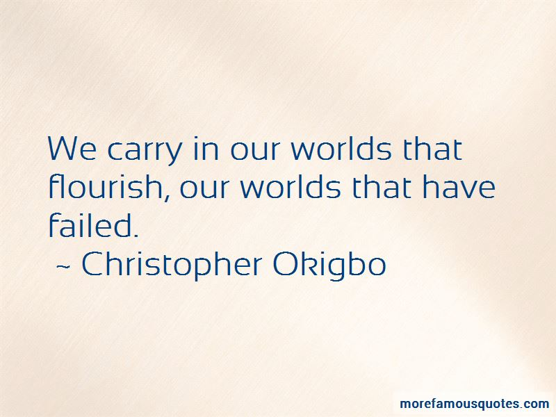 Christopher Okigbo Quotes