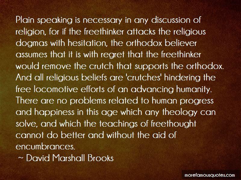 David Marshall Brooks Quotes