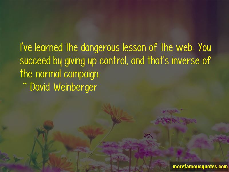 David Weinberger Quotes