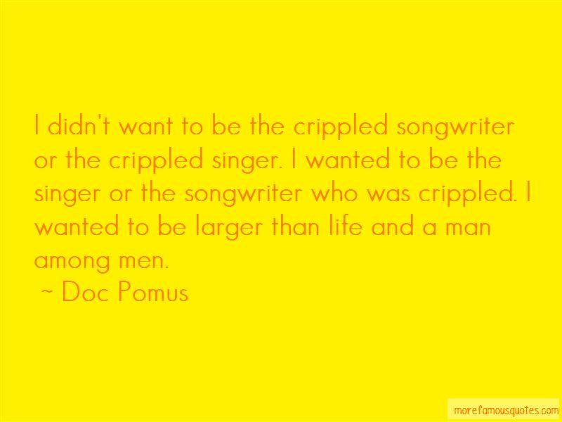 Doc Pomus Quotes