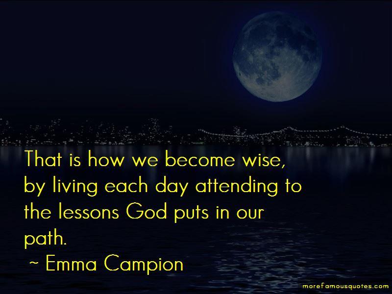 Emma Campion Quotes