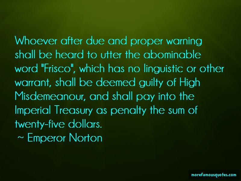Emperor Norton Quotes Pictures 2