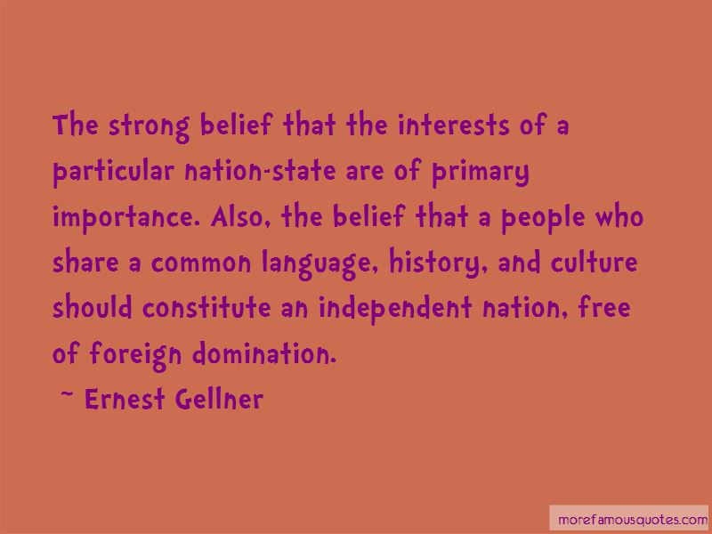 Ernest Gellner Quotes