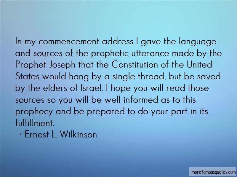 Ernest L. Wilkinson Quotes Pictures 2