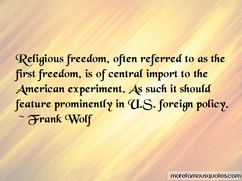 Frank Wolf Quotes