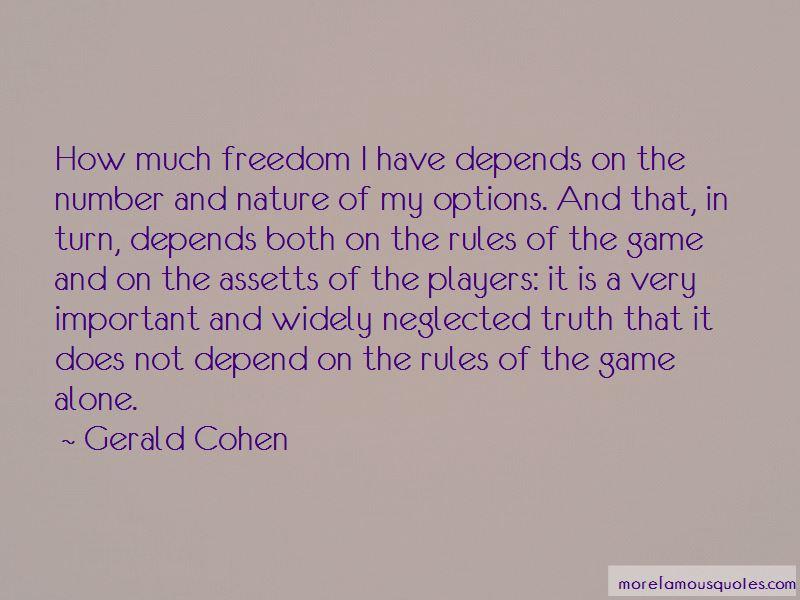 Gerald Cohen Quotes
