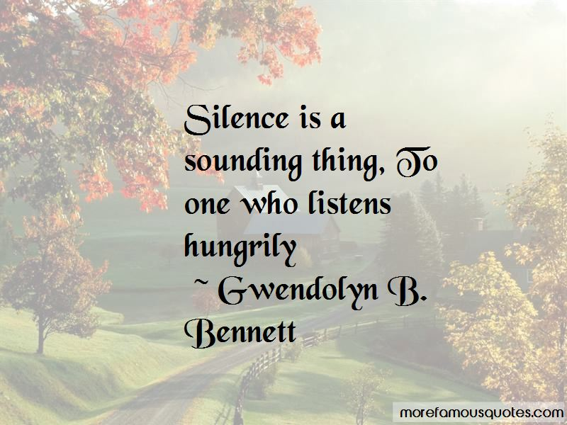 Gwendolyn B. Bennett Quotes Pictures 2