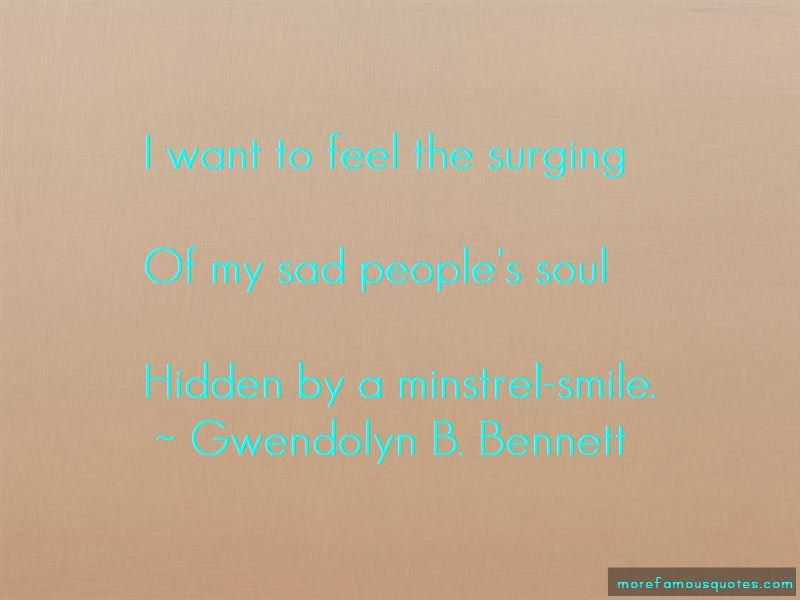 Gwendolyn B. Bennett Quotes