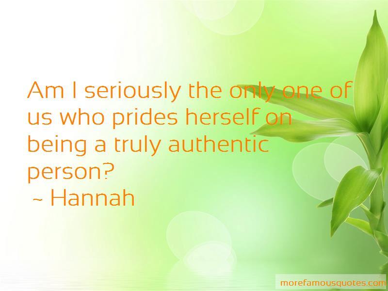 Hannah Quotes