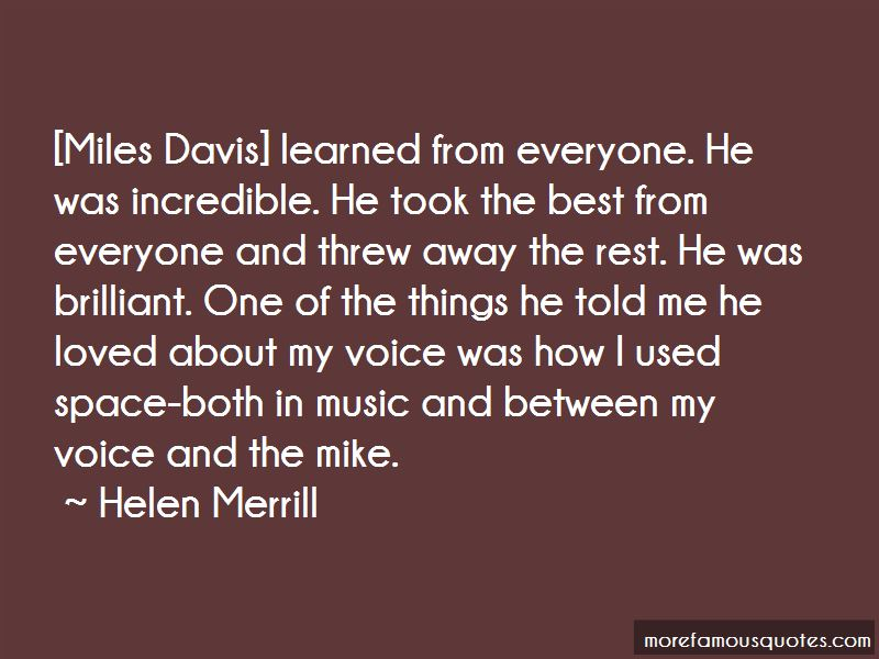Helen Merrill Quotes