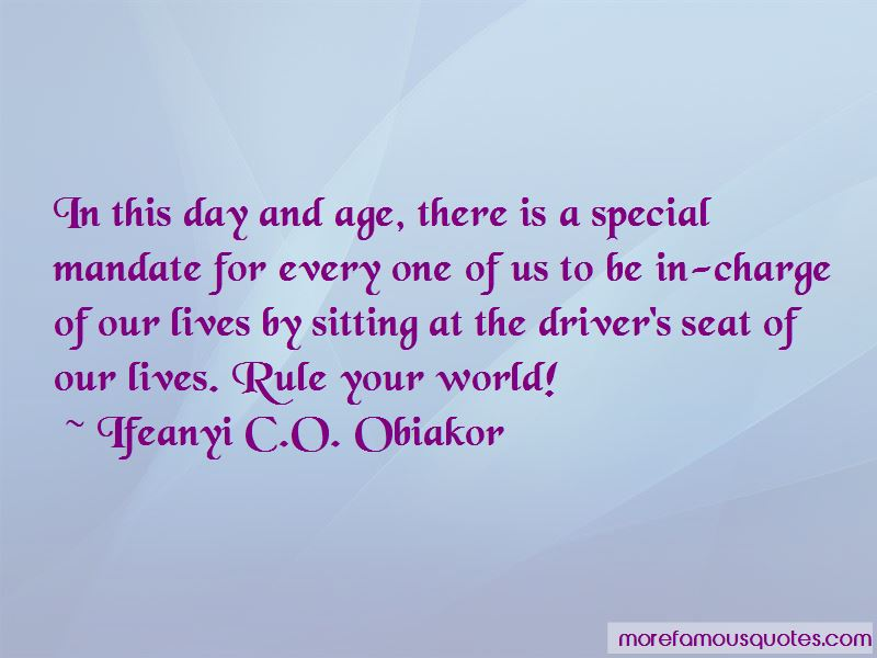 Ifeanyi C.O. Obiakor Quotes