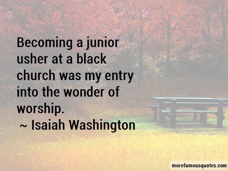 Isaiah Washington Quotes