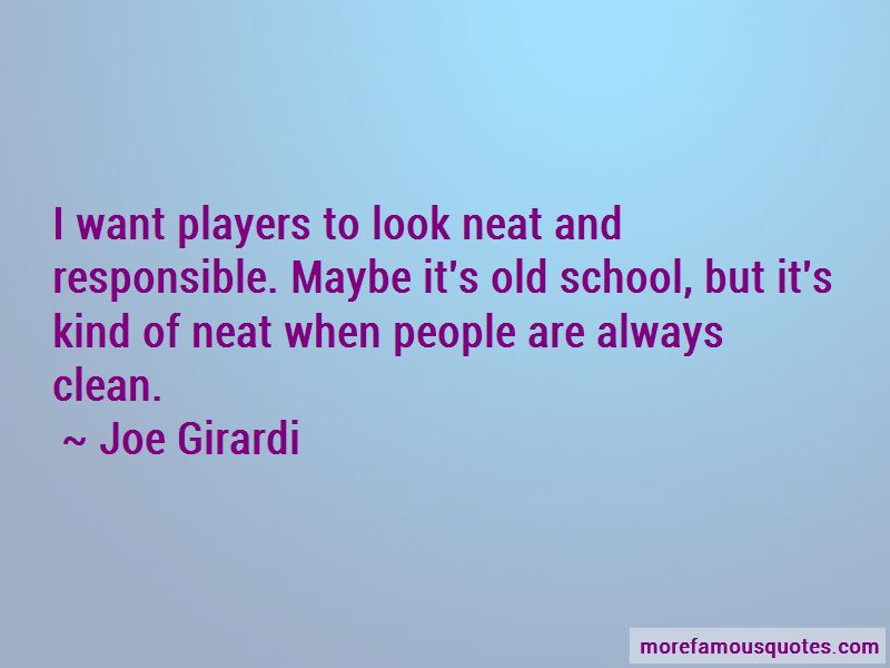 Joe Girardi Quotes