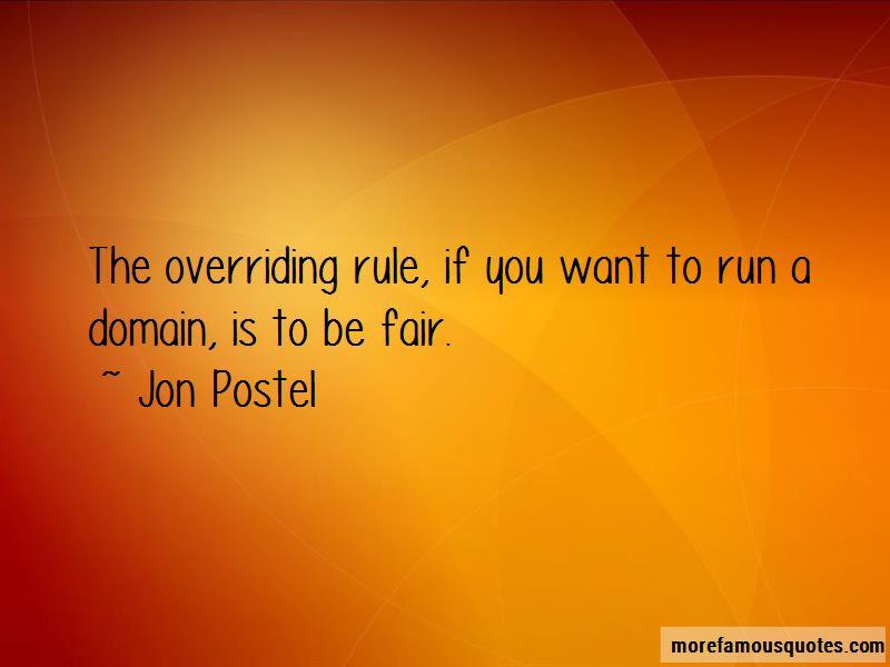 Jon Postel Quotes