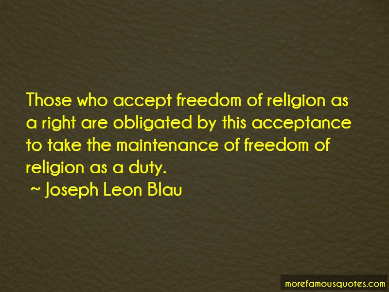 Joseph Leon Blau Quotes Pictures 4