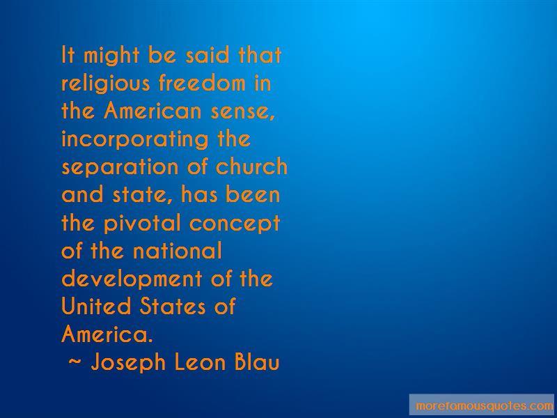 Joseph Leon Blau Quotes