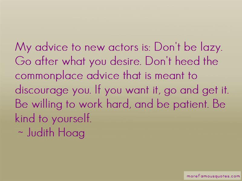 Judith Hoag Quotes