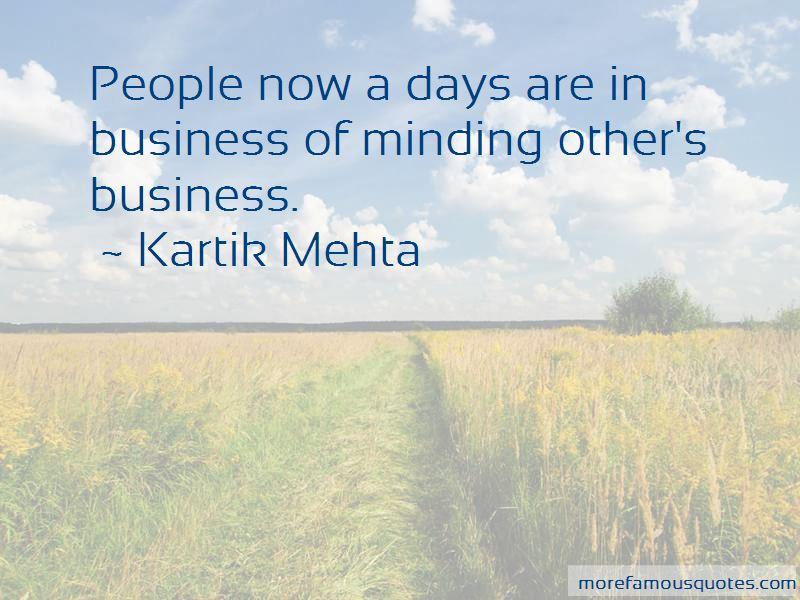 Kartik Mehta Quotes Pictures 2