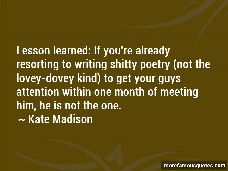 Kate Madison Quotes