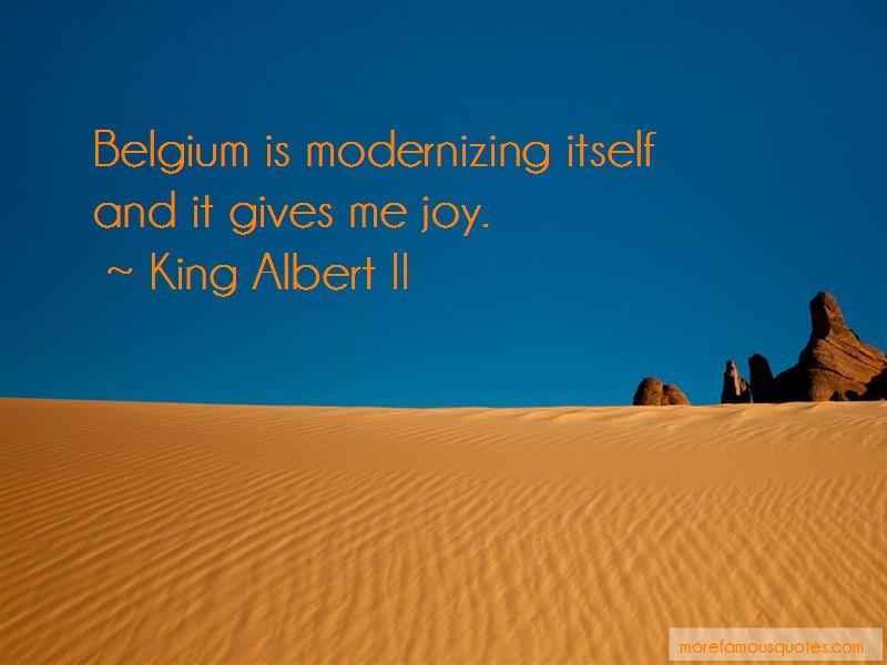 King Albert II Quotes