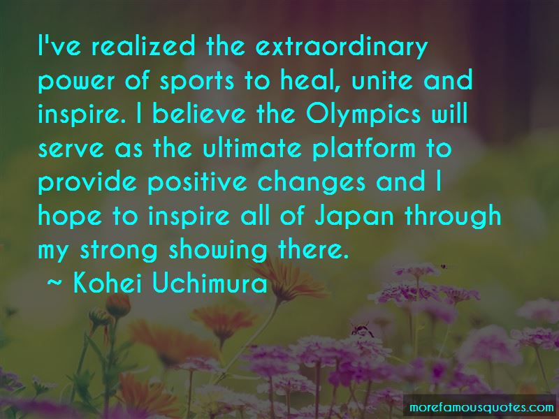 Kohei Uchimura Quotes