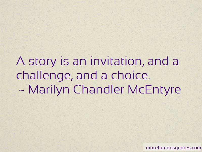 Marilyn Chandler McEntyre Quotes