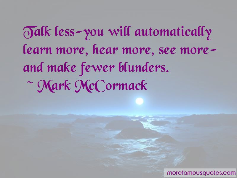 Mark McCormack Quotes Pictures 2
