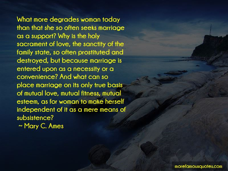 Mary C. Ames Quotes