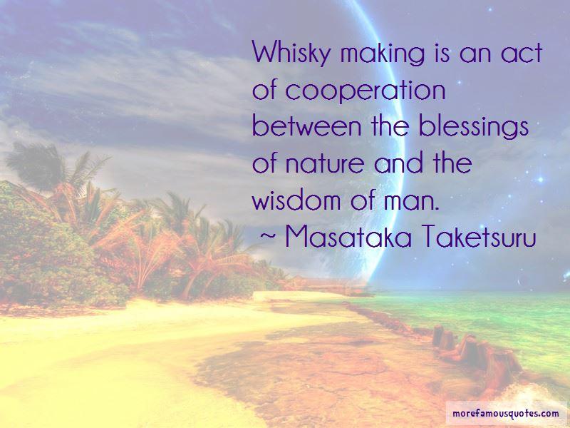 Masataka Taketsuru Quotes