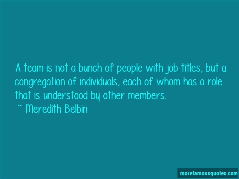 Meredith Belbin Quotes