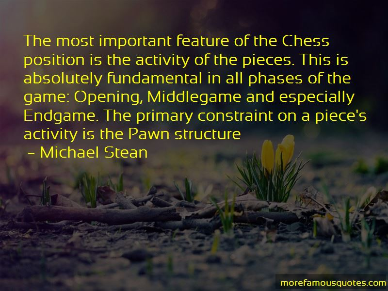 Michael Stean Quotes