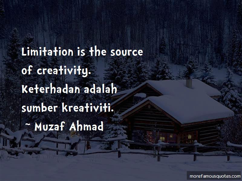 Muzaf Ahmad Quotes