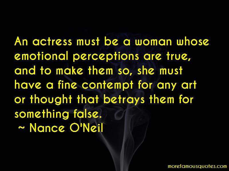 Nance O'Neil Quotes