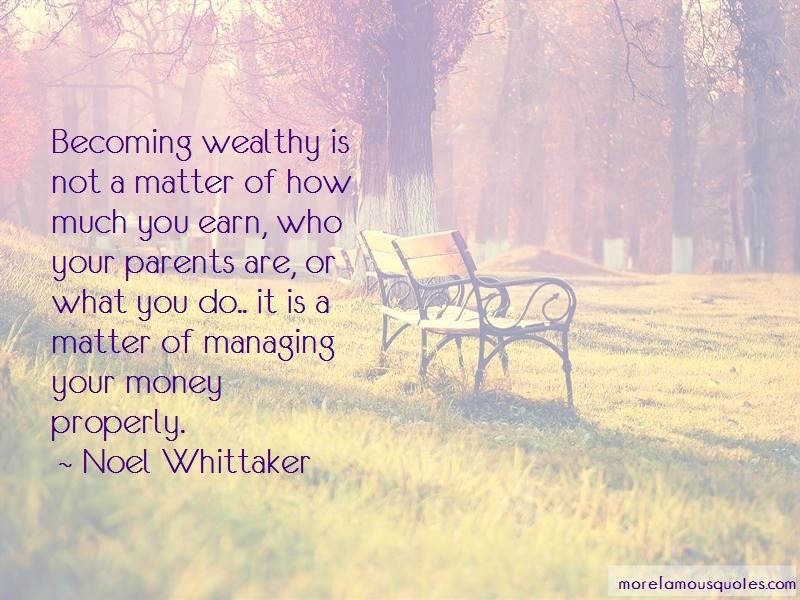 Noel Whittaker Quotes