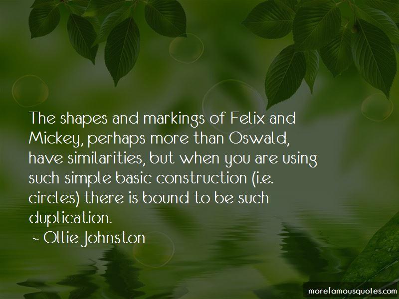 Ollie Johnston Quotes