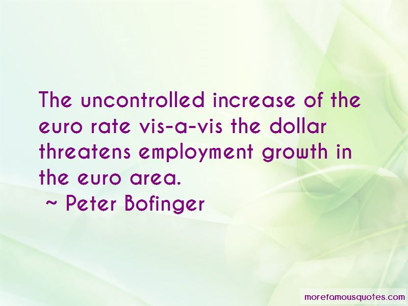 Peter Bofinger Quotes Pictures 2