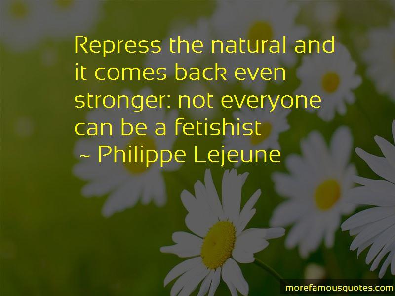 Philippe Lejeune Quotes