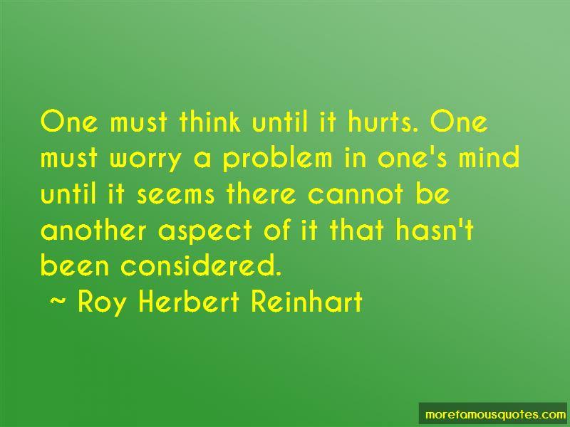 Roy Herbert Reinhart Quotes