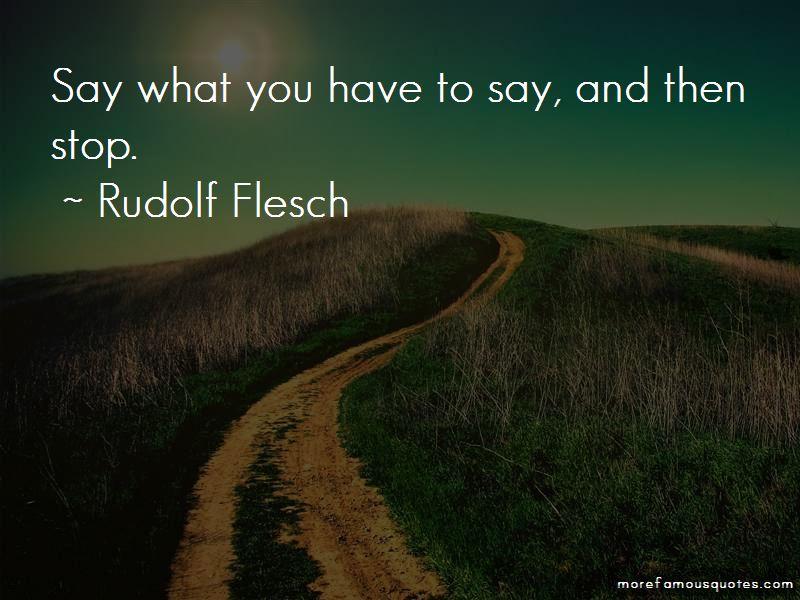 Rudolf Flesch Quotes Pictures 4
