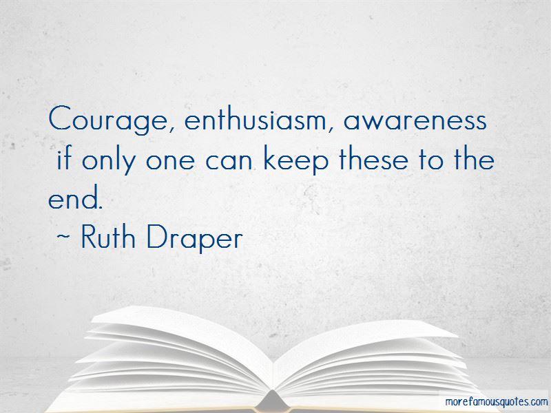 Ruth Draper Quotes