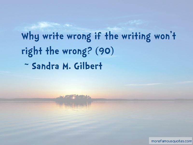 Sandra M. Gilbert Quotes