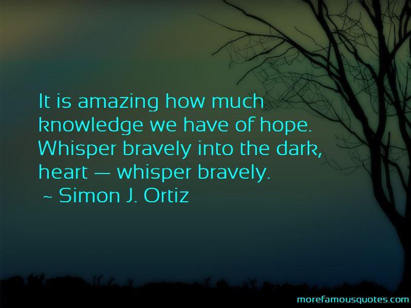 Simon J. Ortiz Quotes