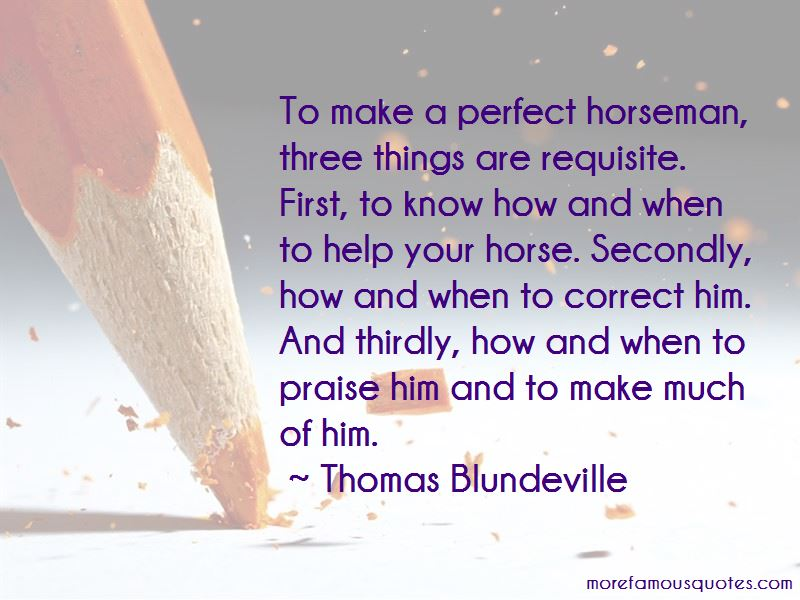 Thomas Blundeville Quotes