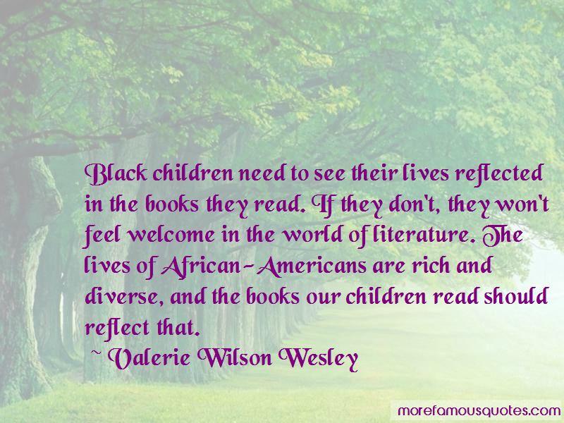 Valerie Wilson Wesley Quotes